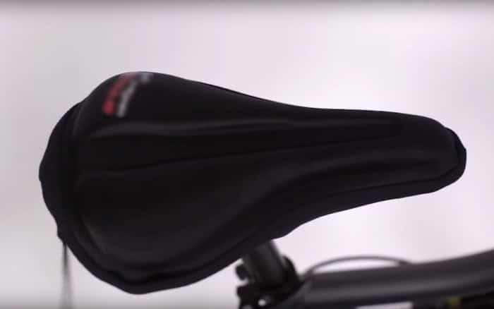 black gel bike seat cover