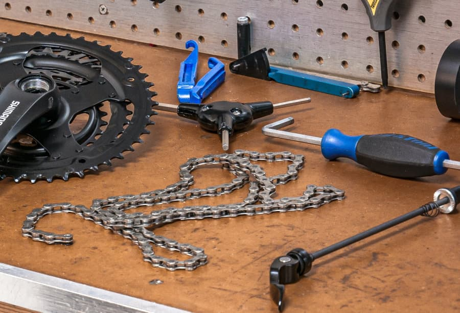 tools required shorten bicycle chain